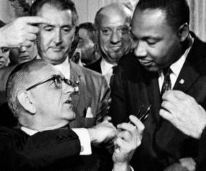 LBJ and Martin Luther King, Jr.
