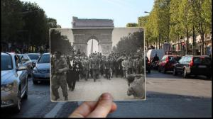 Champs-Elysees WWII and now