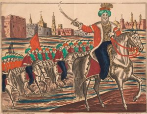"""An anonymous painting of Turkish Emperor Mahmud II leading his troops. Credit Fine Art Images/Heritage Images/Getty Images """
