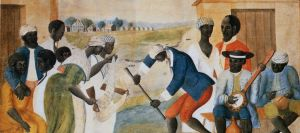 The Old Plantation (Slaves Dancing on a South Carolina Plantation), ca. 1785-1795. | Attributed to John Rose