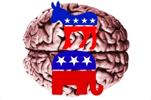 republican and democratic brain
